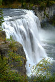Mesa Falls Waterfall in Canyon Gorge Water Wilderness Stock Photography