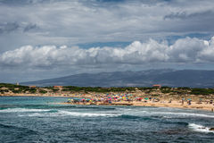 Mesa Longa beach, Sardinia stock photo