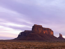 Mesa in Monument Valley at Dusk Royalty Free Stock Images