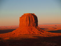 Mesa. In Monument Valley Navajo Tribal Park at sunset Stock Photography