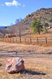 Mesa op een Oude Westelijke Weg stock afbeelding