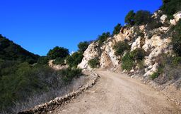 Mesa Peak Motorway Geology Royalty Free Stock Images