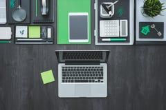 Mesa plana del negocio de la endecha Foto de archivo libre de regalías
