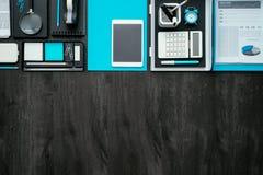 Mesa plana del negocio de la endecha Imagen de archivo
