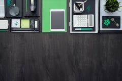 Mesa plana del negocio de la endecha Imagen de archivo libre de regalías