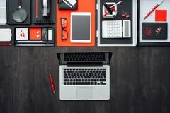 Mesa plana del negocio de la endecha Fotos de archivo libres de regalías