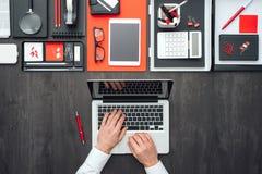 Mesa plana del negocio de la endecha Fotografía de archivo