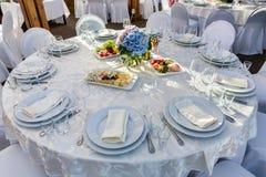 Mesa redonda del banquete para las huéspedes Foto de archivo libre de regalías