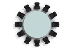 Mesa redonda e cadeiras da conferência Imagens de Stock Royalty Free