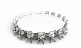 Mesa redonda moderna Fotos de Stock Royalty Free