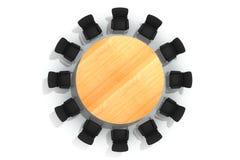 Mesa redonda y sillas de la conferencia Imagen de archivo libre de regalías