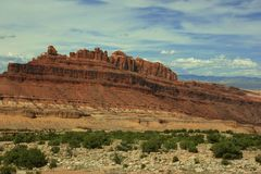 Mesa rock formations Utah Royalty Free Stock Image