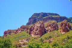 MESA rossa stupefacente della roccia Fotografia Stock