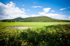 Mesa in summer landscape Royalty Free Stock Photos