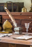 Mesa velha do trabalho Foto de Stock