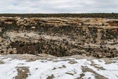 Mesa verde国家公园沙漠山风景 免版税库存照片