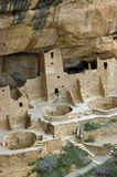 Mesa Verde. Cliff Palace, one of the most spectacular ancient cliffside villages of the ancient Anasazi people on the mesa top at Mesa Verde National Park near stock image