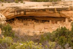 Mesa Verde. Ruins at Mesa Verde National Park, Colorado. Ancient Cliff dwelling Stock Images