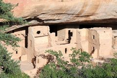 Mesa Verde Ancient Cliff Dwellings Stockfotos