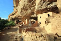 Mesa Verde Ancient Cliff Dwellings Stock Foto's