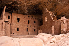 Mesa Verde cliff dwellings. An ancient Native American dwelling that is part of an archaeological site at Mesa Verde, Colorado Royalty Free Stock Photography