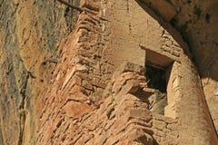 Mesa Verde Cliff Dwellings Glowing in de middagzon royalty-vrije stock afbeelding