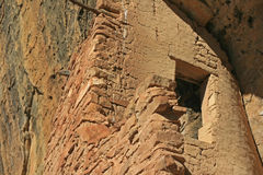 Mesa Verde Cliff Dwellings Glowing nel sole di pomeriggio immagine stock libera da diritti