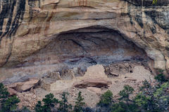 Mesa verde national park - cliff dwelling in desert mountain lan. Native american indian cliff dwellings. historical landmark monument. mesa verde national park stock photography