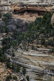 Mesa verde national park - cliff dwelling in desert mountain lan Stock Photos