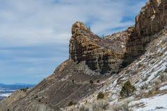 Mesa verde national park desert mountain winter snow landscape Royalty Free Stock Image