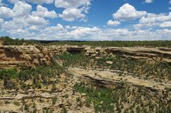 Mesa Verde National Park. View at the Mesa Verde National Park Royalty Free Stock Photo