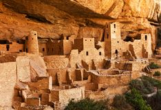 Mesa Verde - Pueblo land. The cliff dwellings of Mesa Verde are some of the most notable and best preserved in the North American Continent. Mesa Verde National royalty free stock image