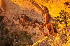 Mesa Verde - rovina quadrata della Camera fotografie stock libere da diritti
