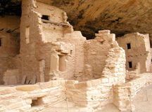 Mesa Verde Ruins 1. A section of the Spruce Tree House ruins at Mesa Verde National Park in Colorado. These cliff dwellings were built by the ancient Anasazi Stock Photos