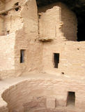 Mesa Verde Ruins 6. Section of the Spruce Tree House ruins at Mesa Verde National Park in Colorado. These cliff dwellings were built by the ancient Anasazi Royalty Free Stock Photo