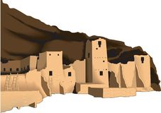 Mesa Verde Vector Illustration stock de ilustración
