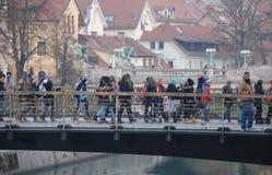Mesarski mest i Ljubljana Arkivbild