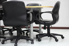 Mesas de escritório Fotografia de Stock Royalty Free