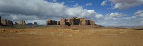 Mesas and desert, Monument Valley, Utah, USA Royalty Free Stock Photography