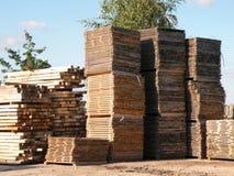 Mesas e pálete de madeira Imagens de Stock Royalty Free