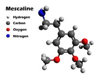 Mescaline 3D model Stock Image