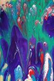 Mescolanza astratta variopinta della vernice immagini stock