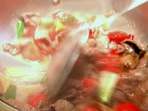Mescolare-Frittura Fotografia Stock