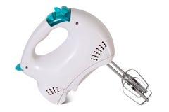 Mescolatore di alimenti elettrico su bianco fotografie stock libere da diritti