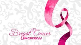 Mese di consapevolezza del cancro al seno di vettore illustrazione vettoriale
