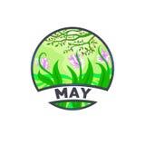 Mese di logo del paesaggio di maggio Fotografia Stock Libera da Diritti