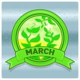 Mese di logo del paesaggio di marzo Fotografia Stock