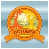 Mese di logo del paesaggio di ottobre Fotografie Stock