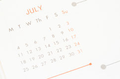 Mese di luglio Fotografia Stock