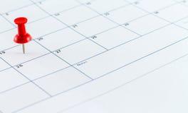 Mese di settimana di giorno del pianificatore della data di calendario Fotografia Stock Libera da Diritti